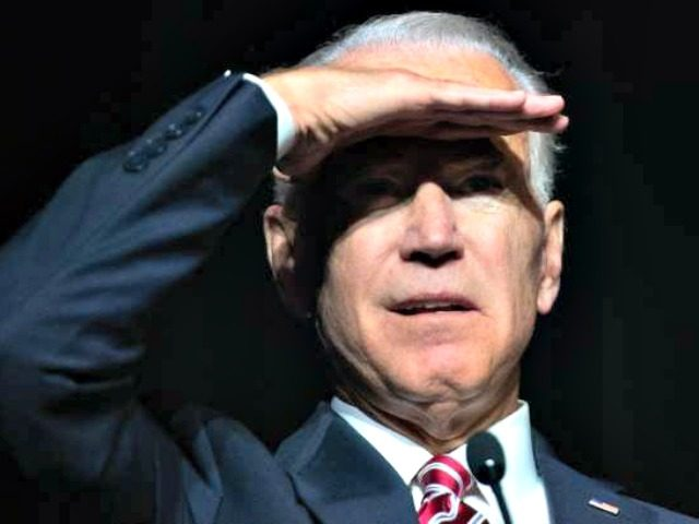 Joe Biden Shields Eyes