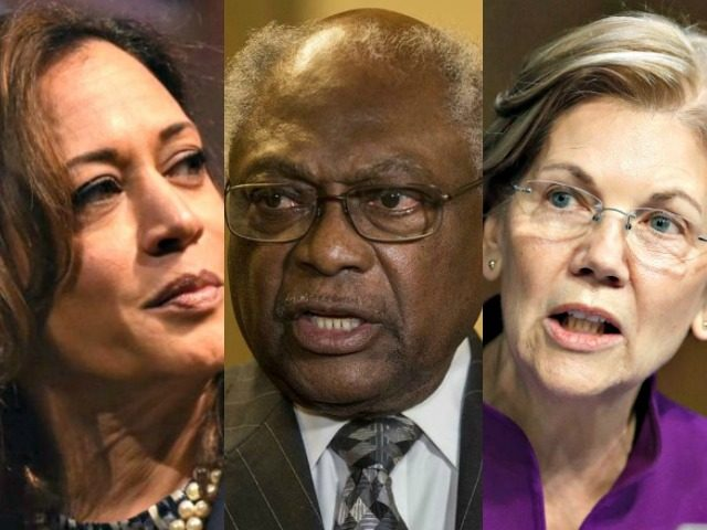 Kamala Harris, James Clyburn, Elizabeth Warren