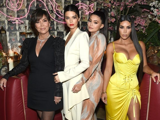 NEW YORK, NY - MAY 08: (L-R) Talent Manager, Jenner Communications, Kris Jenner, Model Kendall Jenner, Founder, Kylie Cosmetics Kylie Jenner, and Founder and CEO, KKW Kim Kardashian attends an intimate dinner hosted by The Business of Fashion to celebrate its latest special print edition 'The Age of Influence' at …
