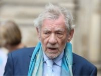 Actor Ian McKellen leaves from Westminster Abbey in central London on September 11, 2018, after attending a service of thanksgiving for the late English theatre, opera and film director, Peter Hall. - British director Peter Hall, who founded the Royal Shakespeare Company in 1960 and was credited with the boom …