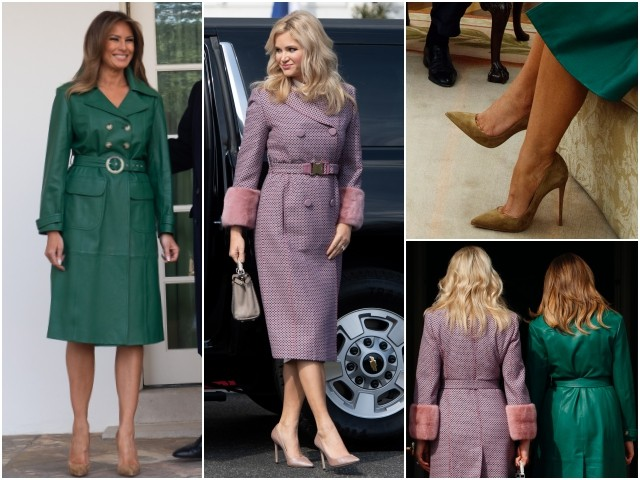a92d54f52848 Fashion Notes: Melania Trump, Monika Babisova Are Style Sisters in Chic  Coats – Law Breaking News