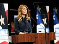 First lady Melania Trump speaks before participating in a town hall on the opioid epidemic with moderator Eric Bolling in Las Vegas, Tuesday, March 5, 2019, during a two-day, three-state swing to promote her Be Best campaign. (AP Photo/Patrick Semansky)