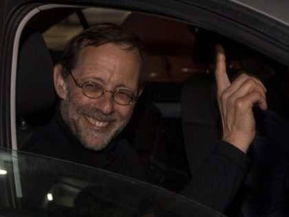 In this Thursday, March 14, 2019 photo, Zehut party leader Moshe Feiglin attends an election campaign event in Sderot, Israel. The Cinderella story of Israel's current election campaign is a fringe party led by Feiglin, an ultranationalist libertarian with a criminal record, who vows to legalize marijuana in an improbable …