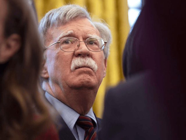 The United States' National Security Advisor John Bolton said Wednesday that the U.S. is pursuing diplomatic and economic initiviatives to support Venezuelan National Assembly Leader Juan Guaido and against Venezuelan President Nicolas Maduro. Photo by Kevin Dietsch/UPI