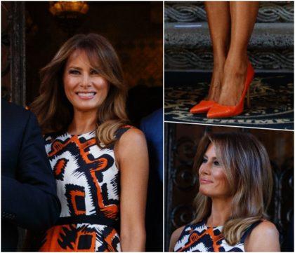 Neon orange stilettos