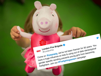 LONDON, ENGLAND - JUNE 25: A boy holds a 'One Upon A Time Princess Rose' Peppa Pig toy at Hamleys on June 25, 2015 in London, England. This Peppa Pig, which will sing by having its hands held, sells for £20. The Hamleys toy shop have made their predictions for …