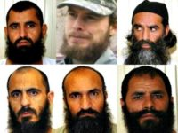 The five Guantanamo Bay detainees swapped for Sgt. Bowe Bergdahl are, from Mullah Norullah Nori, Mohammed Nabi Omari, Mohammed Fazl, Khairullah Khairkhwa and Abdul Haq Wasiq. (U.S. Department of Defense)