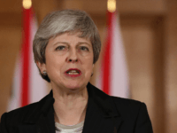 LONDON, ENGLAND - MARCH 20: British Prime Minister, Theresa May addresses the nation after asking the European Union for a Brexit extension, at number 10 Downing Street on March 20, 2019 in London, England. EU Commission President, Donald Tusk has said that the EU would grant a short extension to …