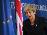 BRUSSELS, BELGIUM - MARCH 21: British Prime Minister Theresa May departs after speaking to the media at the end of the first of a two-day summit of European Union leaders on March 21, 2019 in Brussels, Belgium. Leaders will discuss May's request for an extension of the deadline for the …
