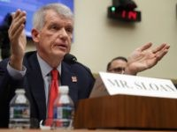 WASHINGTON, DC - MARCH 12: Wells Fargo and Company CEO Timothy Sloan testifies before the House Financial Services Committee in the Rayburn House Office Building on Capitol Hill March 12, 2019 in Washington, DC. Sloan answered questions from committee members about his leadership of the 166-year-old bank following the disclosure …