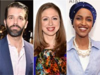 Donald Trump Jr., Chelsea Clinton, Ilhan Omar - collage.