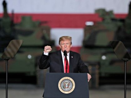 President Donald Trump speaks at Joint Systems Manufacturing Center in Lima, Ohio, Wednesday, March 20, 2019. (AP Photo/Michael Conroy)