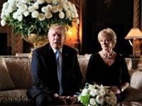 President Donald Trump announces the resignation of Small Business Administration Administrator Linda McMahon during a news conference at his Mar-a-Lago estate in Palm Beach, Fla., Friday, March 29, 2019. She is joining the campaign to help with Trump's re-election effort.. (AP Photo/Manuel Balce Ceneta)