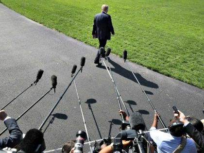 """President Donald Trump has repeatedly called reporters """"enemies of the people"""" and """"fake news."""" (Chip Somodevilla/Getty Images)"""