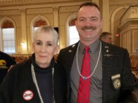 Moms Demand Action members attended legislative hearings Tuesday in support of gun confiscation laws. When the Moms Demand members arrived, they saw numerous Republican lawmaker wearing pearl necklaces and assumed the lawmakers were mocking them.