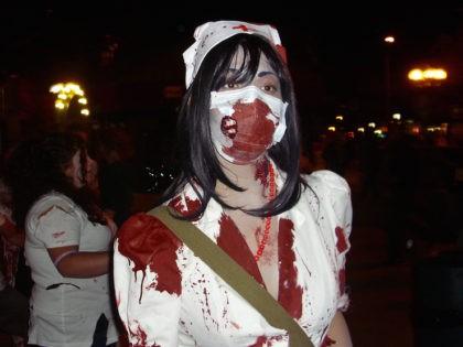 Zombie nurse (Lauren Coolman / Flickr / CC / Cropped)