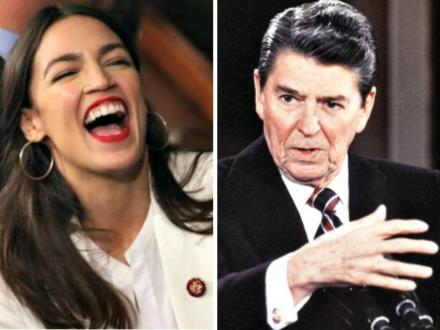 alexandria-ocasio-cortez, Ronald Reagan