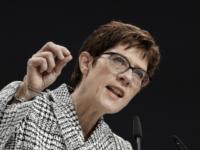 CDU general secretary Annegret Kramp-Karrenbauer delivers her speech when running as chairwoman at the party convention of the Christian Democratic Party CDU in Hamburg, Germany, Friday, Dec. 7, 2018. 1001 delegates are electing a successor of German Chancellor Angela Merkel who doesn't run again for party chairmanship after more than …
