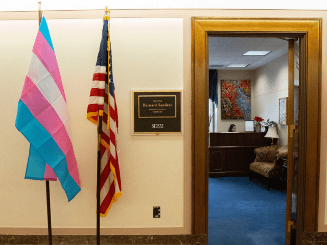 Discrimination has no place in our society. I am proud to display this flag as a symbol of my support for transgender people across the country. We must stand with transgender people in all of our communities.
