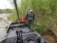 Del Rio Sector Border Patrol agents rescue a double-amputee illegal alien from an island in the middle of the Rio Grande River. (Photo: U.S. Border Patrol/Del Rio Sector)