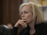 Sen. Kirsten Gillibrand, D-NY, the ranking member of the Senate Armed Services Subcommittee on Personnel, listens during a hearing about prevention and response to sexual assault in the military on March 6, 2019. (AP Photo/J. Scott Applewhite)