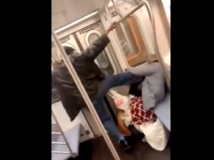 A man was caught on camera brutally kicking a 78-year-old woman in the face on a New York City subway, the New York Police Department announced Friday.