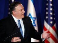 US Secretary of State Mike Pompeo speaks during a joint press conference with Israeli Prime Minister at his residence in Jerusalem on March 21, 2019. - Pompeo issued a thinly veiled jab at US Democrats over anti-Semitism, following controversial comments by a Muslim congresswoman over American support for Israel. (Photo …