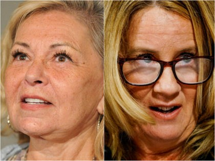 Roseanne Barr and Christine Blasey Ford