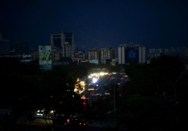 The Venezuelan capital Caracas was in near-darkness on March 8, 2019 during the worst power outage in the country's history