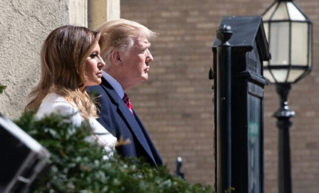 Donald Trump and Melania Trump Attend Church on St. Patrick's Day