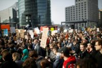 Protesters rally against EU internet copyright reform