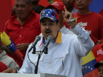 Venezuelan President Nicolas Maduro delivers a speech during a pro-government demonstration in Caracas on March 23, 2019.It is two months since Juan Guaido has asserted he is Venezuela's interim president. Domestically, he has been unable to shake President Nicolas Maduro from power