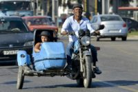 Cuba a thriving hang-out for Soviet era motorcycle sidecars