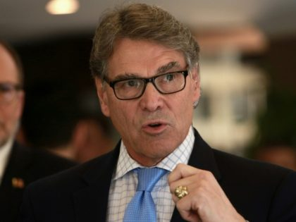 US Energy Secretary Rick Perry, seen here in December 2018, says the Trump administration has approved six applications for preliminary nuclear work in Saudi Arabia