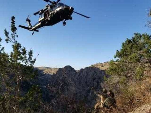 CBP aircrew rescues injured Border Patrol agent in Arizona mountains. (Photo: U.S. Customs and Border Protection)