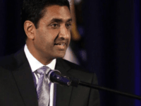 In this file photo, Ro Khanna, then a Democratic candidate for U.S. Representative from California's 17th District, gestures during his speech Tuesday, Nov. 8, 2016, in Fremont, Calif. Rep. Khanna is the lead sponsor for House Democratic legislation that would declare a formal end to the Korean War. (AP Photo/Ben …