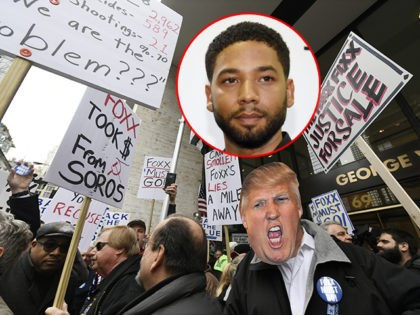 Watch — Chicago Police Union Protest Jussie Smollett Case: 'Foxx Must Go!'