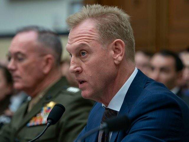 Acting Defense Secretary Patrick Shanahan, joined at left by Chairman of the Joint Chiefs of Staff Gen. Joseph F. Dunford, testifies at a House Armed Services Committee hearing on the fiscal year 2020 Pentagon budget, on Capitol Hill in Washington, Tuesday, March 26, 2019. Lawmakers are concerned about military construction …