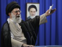 Iran's supreme leader Ayatollah Ali Khamenei delivers the weekly Friday prayer sermonn at Tehran University on June 19, 2009. Khamenei called for an end to street protests over last week's disputed presidential election, siding with declared winner Mahmoud Ahmadinejad, in his first public appearance after daily protests over the official …