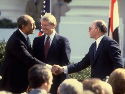 Anwar Sadat Camp David Accords (Ya'akov Sa'ar/GPO via Getty Images)