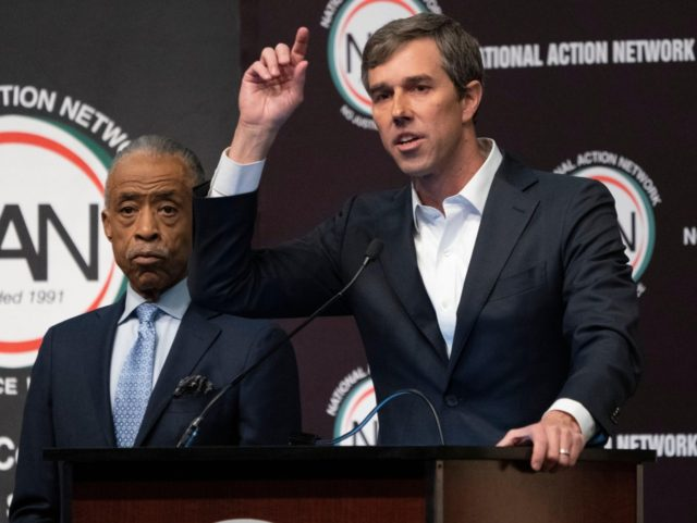 Beto O'Rourke Al Sharpton NAN (Don Emmert / Getty)