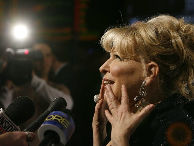 "Bette Midler arrives at a party following her premiere performance ""The Showgirl Must Go On"" at Caesar's Palace hotel and casino in Las Vegas on Wednesday, Feb. 20, 2008. (AP Photo/Isaac Brekken)"