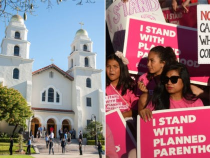California Church, Planned Parenthood - collage.