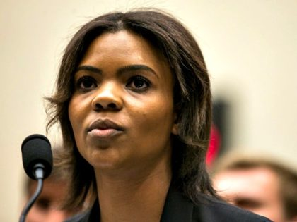 WASHINGTON, DC - APRIL 09: Candace Owens of Turning Point USA testifies during a House Judiciary Committee hearing discussing hate crimes and the rise of white nationalism on Capitol Hill on April 9, 2019 in Washington, DC. Internet companies have come under fire recently for allowing hate groups on their …
