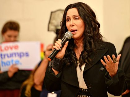 MIAMI, FL - NOVEMBER 07: Cher campaigns for Hillary Clinton at the Wynwood Canvass office on November 7, 2016 in Miami Florida. Credit: mpi04/MediaPunch/IPX