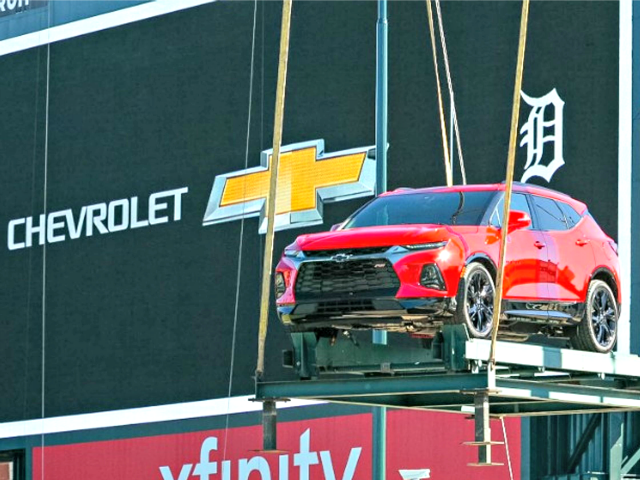 GM removes Mexican-made vehicle from Detroit stadium display