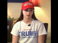 "Ciretta Mackenzie, a 15-year-old freshman at Epping High School, in Epping, New Hampshire, told the media she was reprimanded by teachers for wearing the ""Make America Great Again"" hat and Trump t-shirt and had to borrow a sweatshirt to wear all day to hide her shirt."