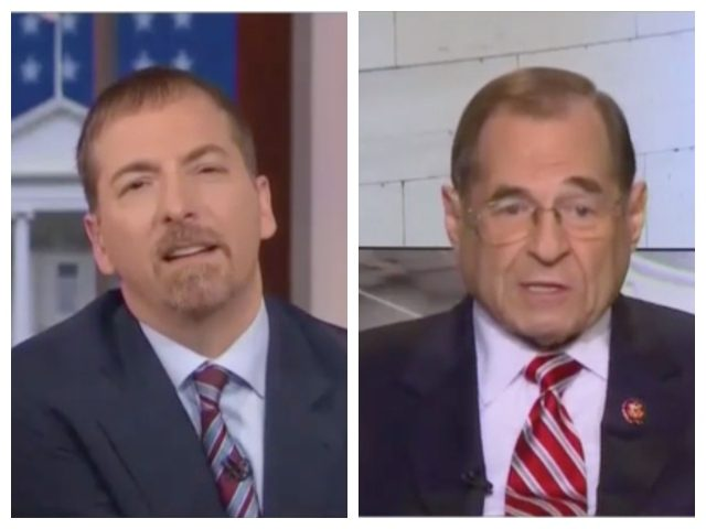 Collage of NBC's Chuck Todd and Rep. Jerrold Nadler on Meet the Press on Sunday, April 21, 2019.