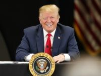 President Trump Attends Roundtable Discussion On Economy And Tax Reform At Trucking Equipment Company In Minnesota BURNSVILLE, MN - APRIL 15: U.S. President Donald Trump speaks at a roundtable on the economy and tax reform at Nuss Trucking and Equipment on April 15, 2019 in Burnsville, Minnesota. At the special …
