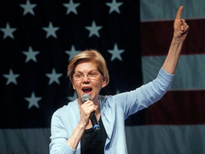 Democratic presidential candidate Sen. Elizabeth Warren, D-Mass., speaks during a campaign rally Wednesday, April 17, 2019, in Salt Lake City. (AP Photo/Rick Bowmer)